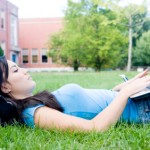 Solid Rock Virtual School Girl on Computer